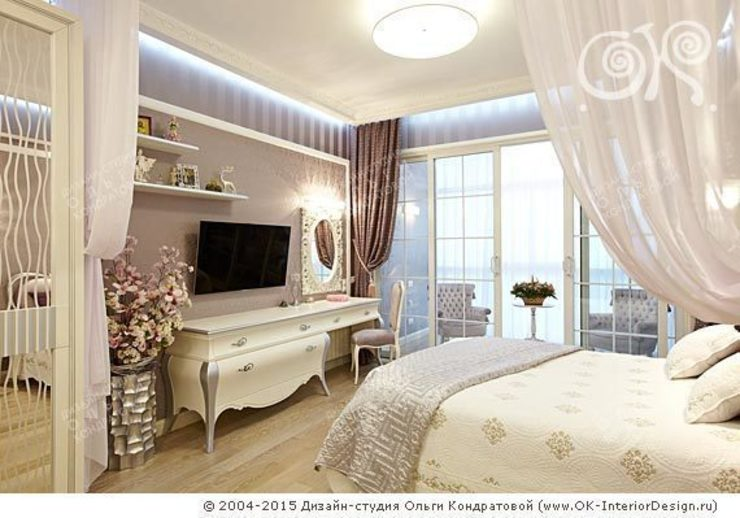 Интерьер спальни в квартире на Мытной Дизайн студия Ольги Кондратовой Спальня в классическом стиле