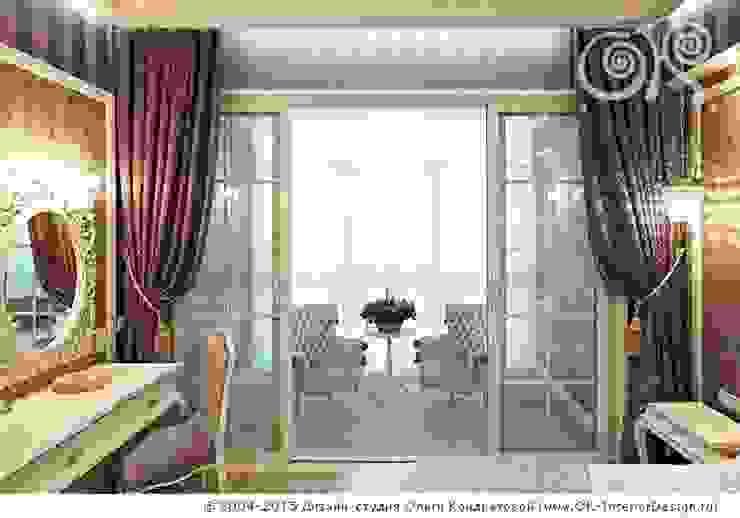 Интерьер балкона в спальне в квартире на Мытной Дизайн студия Ольги Кондратовой Балкон и терраса в классическом стиле