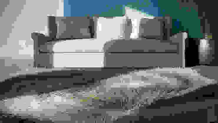 Patio House - Living Room Salas de estilo colonial de arQing Colonial