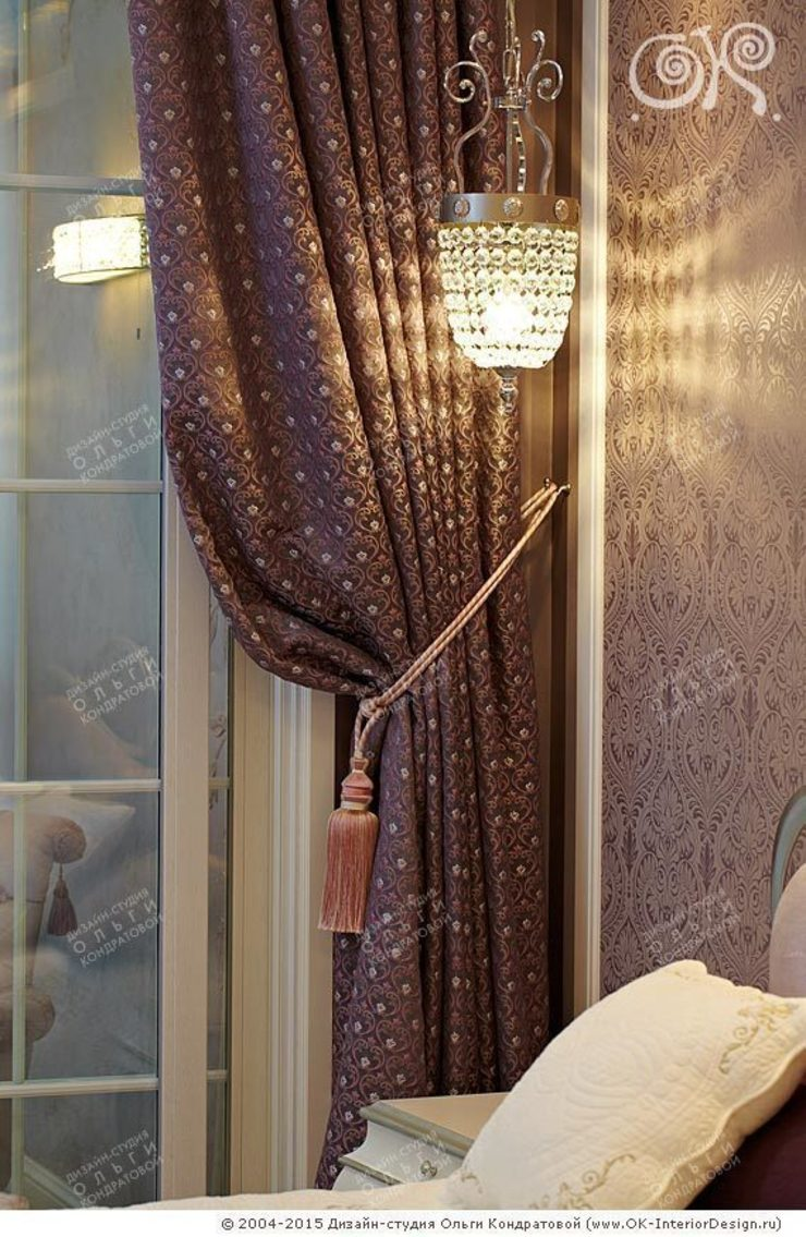 Текстильный декор в спальне на Мытной Дизайн студия Ольги Кондратовой Балкон и терраса в классическом стиле