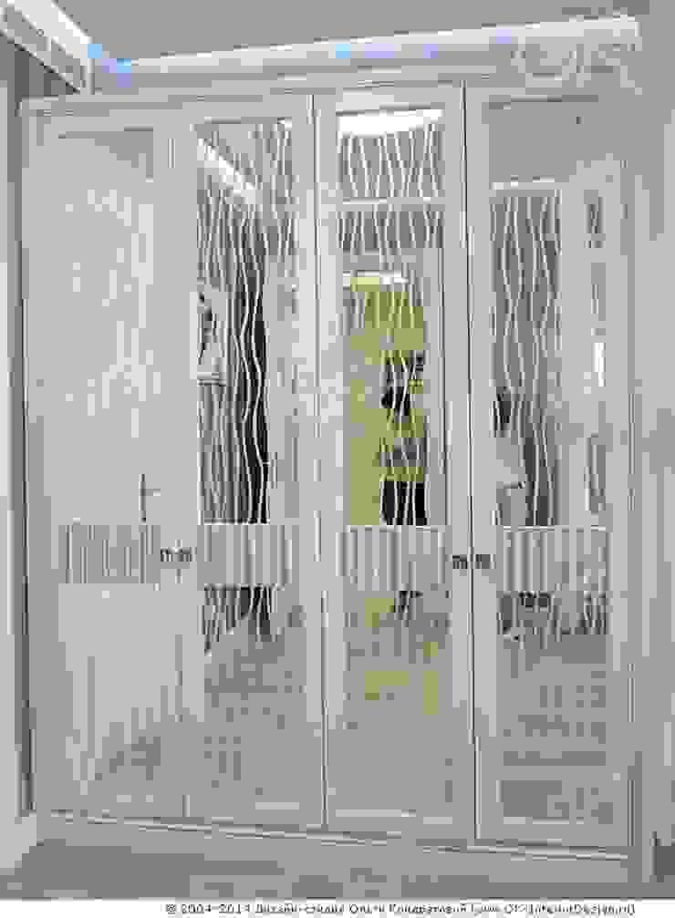 Интерьер спальни в квартире на Мытной Дизайн студия Ольги Кондратовой Спальная комната Шкафы для одежды и комоды