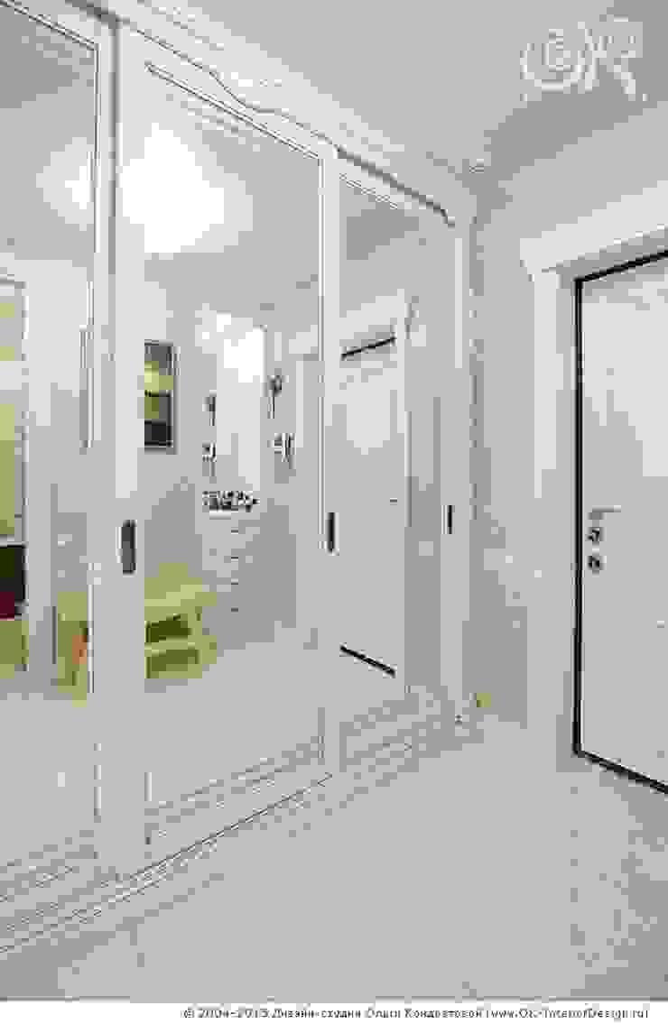 Прихожая в дизайне квартиры на Мытной Дизайн студия Ольги Кондратовой Коридор, прихожая и лестница в классическом стиле