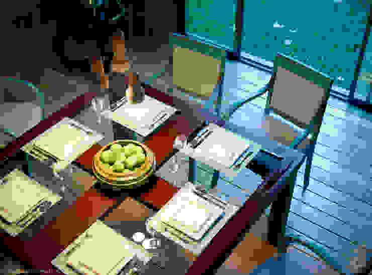 Patio House - Dinning Room Ruang Makan Gaya Kolonial Oleh arQing Kolonial