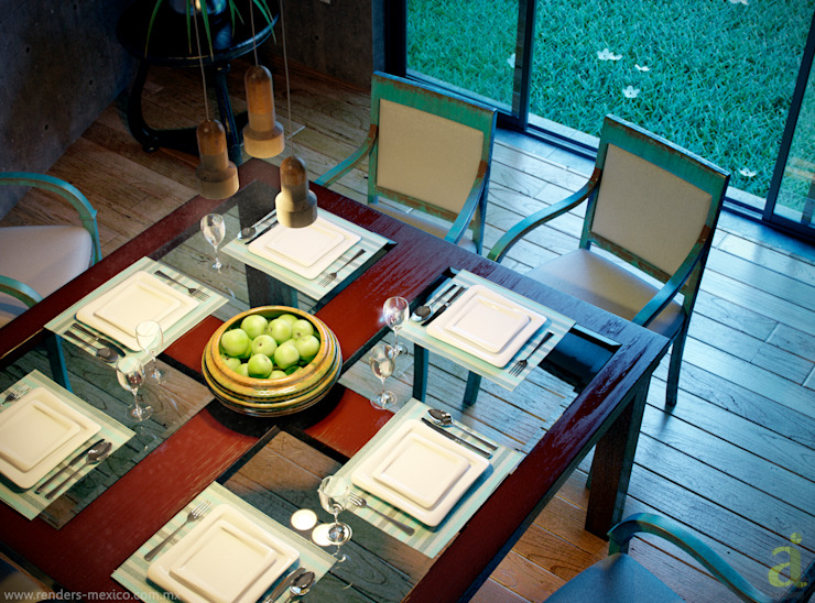 Patio House - Dinning Room arQing Ruang Makan Gaya Kolonial
