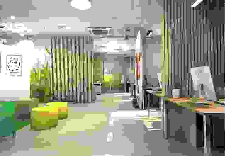 """офис для компании """"Молочная культура"""" Офисные помещения в стиле лофт от marusia-design Лофт"""