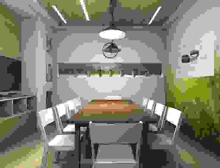 офис для компании <q>Молочная культура</q> Офисные помещения в стиле лофт от marusia-design Лофт