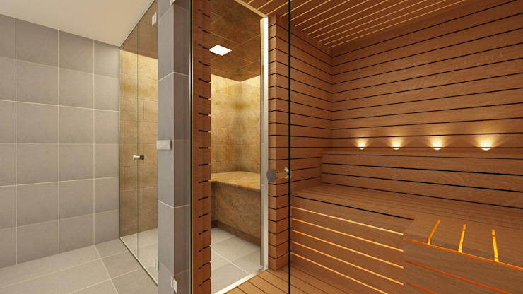 Glass Steam Room and Sauna Moderner Spa von Steam and Sauna Innovation Modern