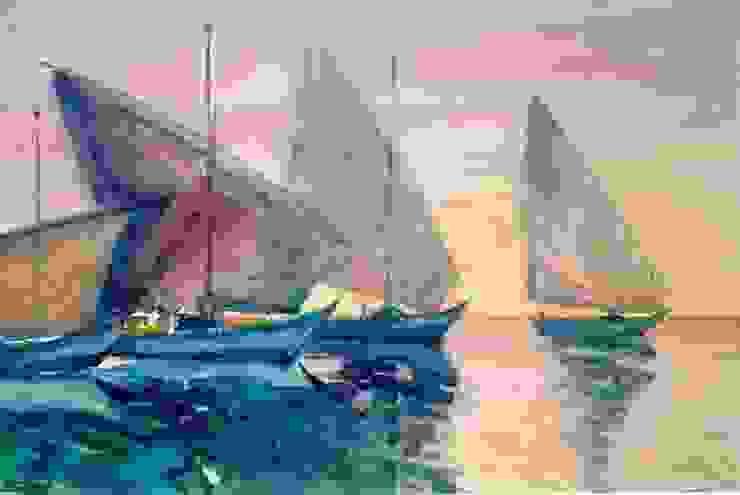 """Бумага.Акварель. """" Лодки"""" от KRAUKLIT VALERII Классический"""