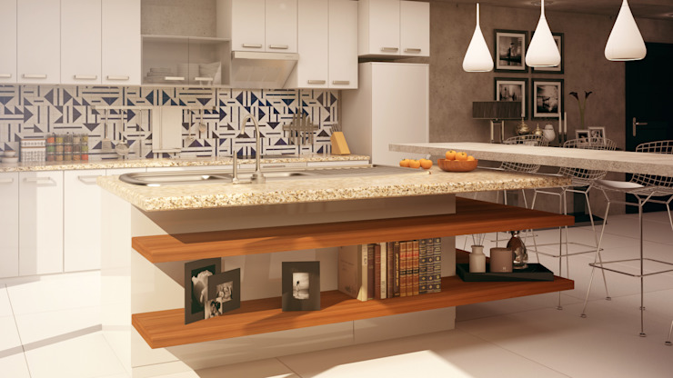 Eclectic style kitchen by CONTRASTE INTERIOR Eclectic