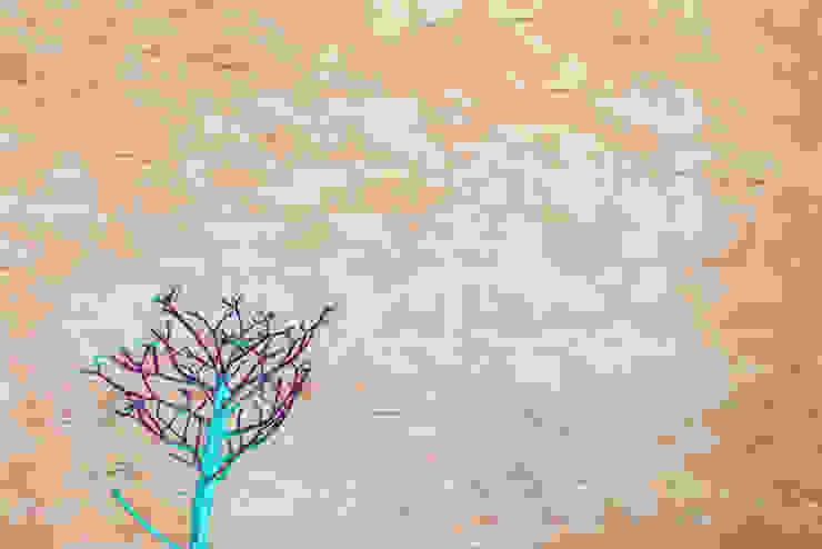 Spatolato grezzo in oro pallido e rame... di Milani Iurisevic decorazioni Moderno