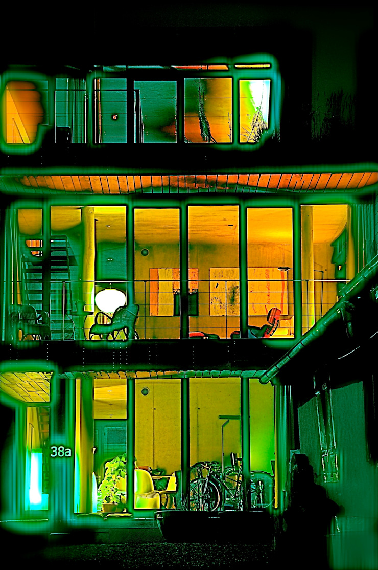 Südseite in der Nacht Architekturbüro 011 Moderne Häuser