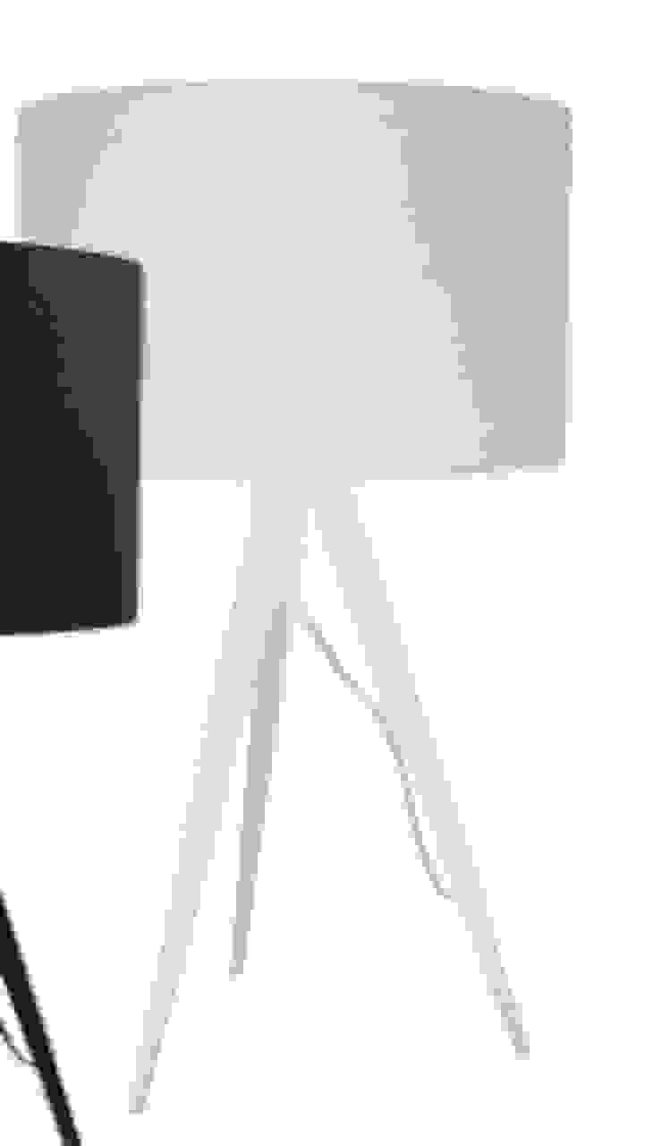 Lámpara de mesa blanca de Casada Health & Beauty Moderno