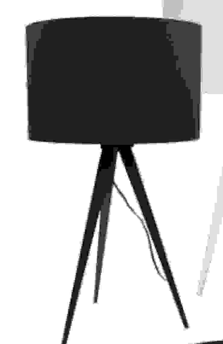Lámpara de mesa negra de Casada Health & Beauty Moderno