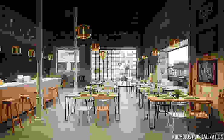 """кафе """"Артель"""" Столовая комната в стиле лофт от Аrchirost Лофт"""
