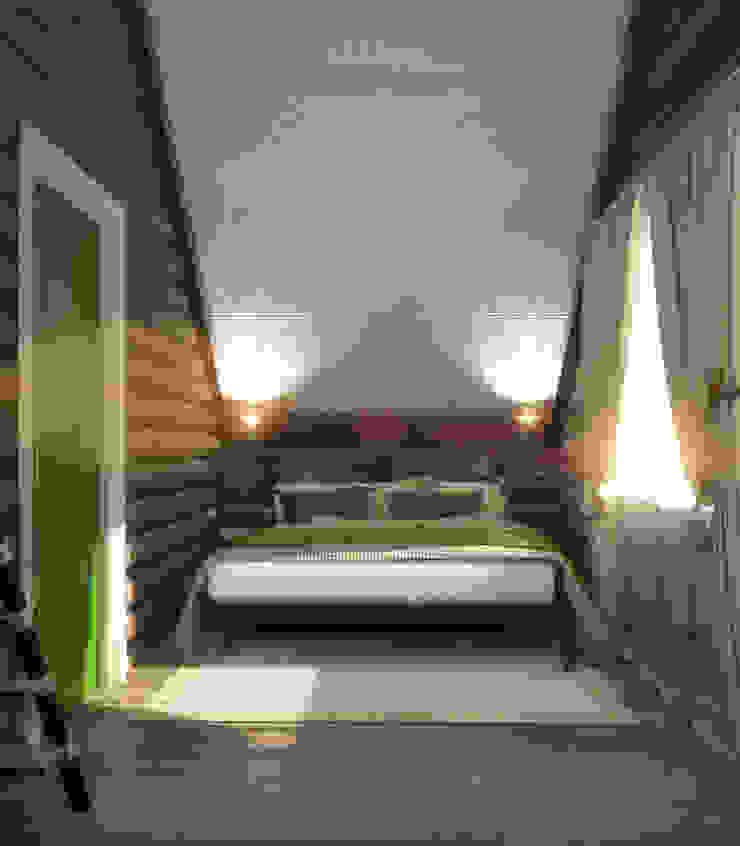 Гостевой домик г.Реж Спальня в стиле кантри от Частный дизайнер и декоратор Девятайкина Софья Кантри