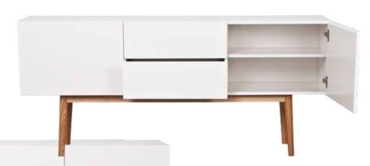 Armario de madera blanco de Casada Health & Beauty Moderno
