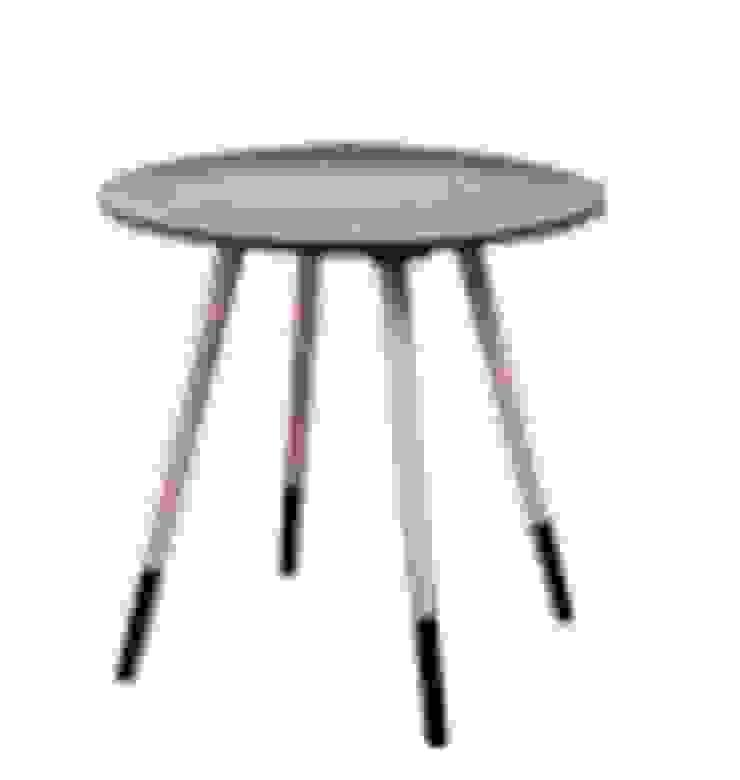 Mesa auxiliar gris y madera de Casada Health & Beauty Moderno