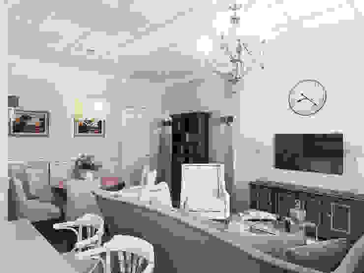 Гостиная-кухня Гостиная в стиле модерн от Студия Искандарова Модерн