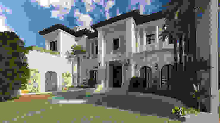 3D Exterior Design Rendering for Modern Home: modern  by Yantram Architectural Design Studio, Modern