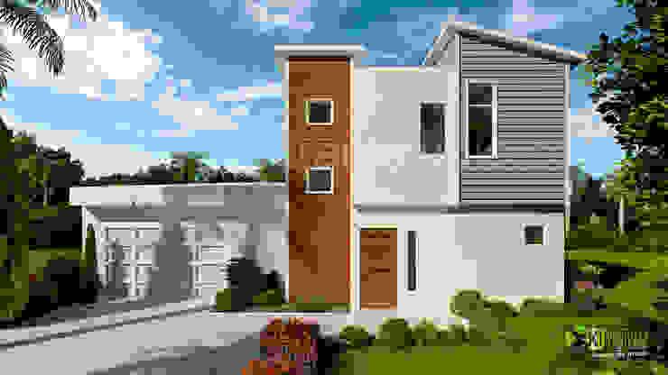 3D Exterior Home Design Rendering: modern  by Yantram Architectural Design Studio, Modern