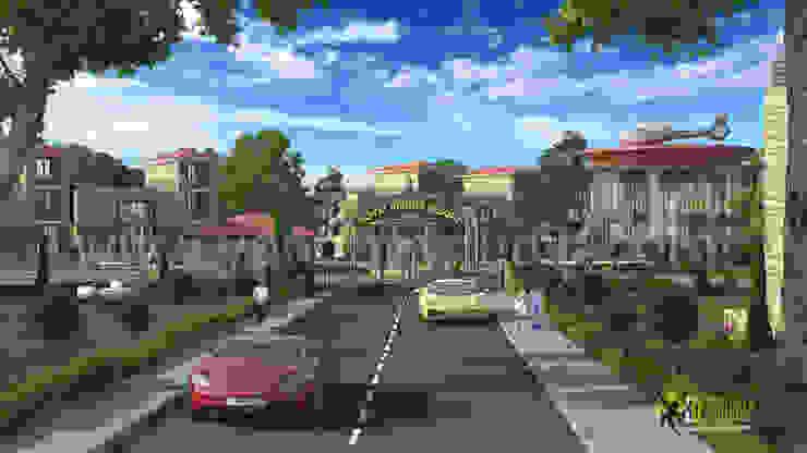 3D Exterior Architectural Rendering Resort: modern  by Yantram Architectural Design Studio, Modern