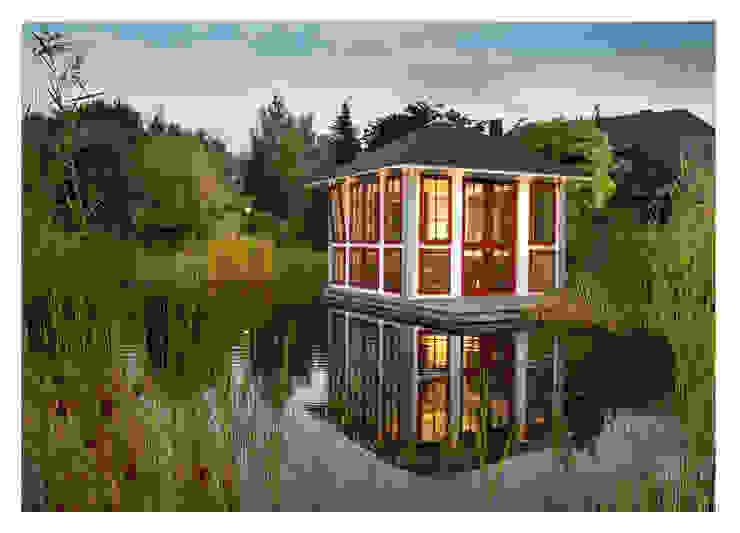 Chalet Moderner Garten von RIWO Gartenpavillons Modern