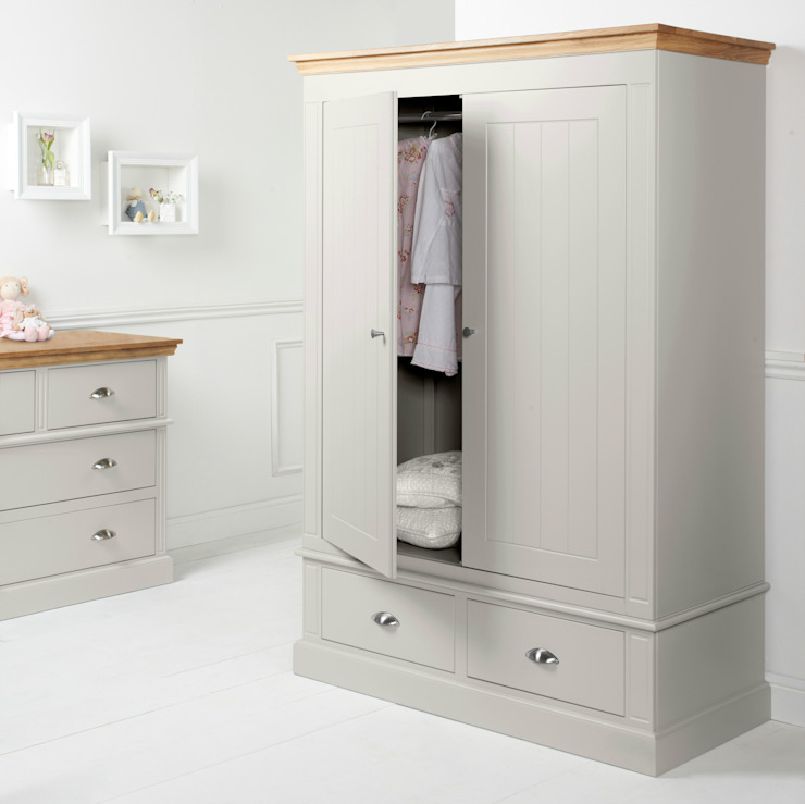 Charlie Oakley Two Door Wardrobe: rustic  by Little Lucy Willow, Rustic