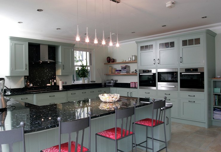 Hand painted traditional kitchen in Hertfordshire Classic style kitchen by John Ladbury and Company Classic