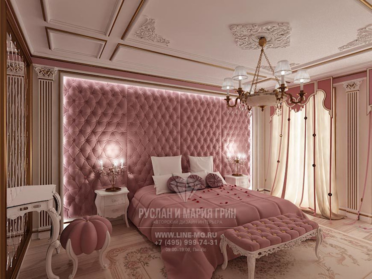 ДИЗАЙН ГОСТЕВОЙ КОМНАТЫ Спальня в стиле модерн от Студия дизайна интерьера Руслана и Марии Грин Модерн