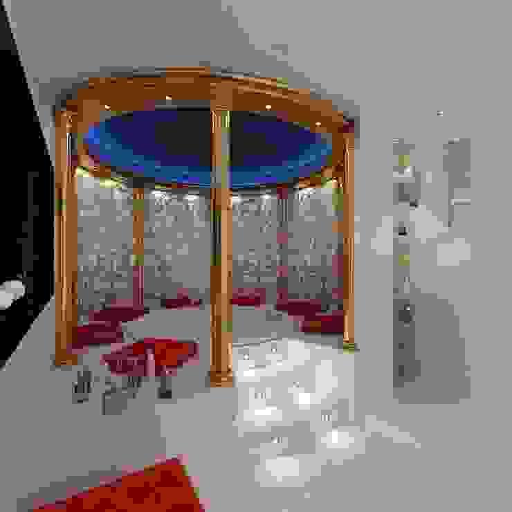 КОЛОННЫ И ВИТРАЖ В ИНТЕРЬЕРЕ ДЖАКУЗИ Ванная комната в стиле модерн от Студия дизайна интерьера Руслана и Марии Грин Модерн