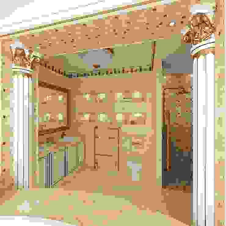 АНТИЧНЫЕ МОТИВЫ ИНТЕРЬЕРА ВАННОЙ Ванная комната в стиле модерн от Студия дизайна интерьера Руслана и Марии Грин Модерн