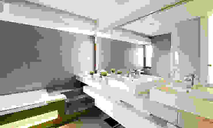 Przestronna łazienka Nowoczesna łazienka od Pracownia projektowa artMOKO Nowoczesny