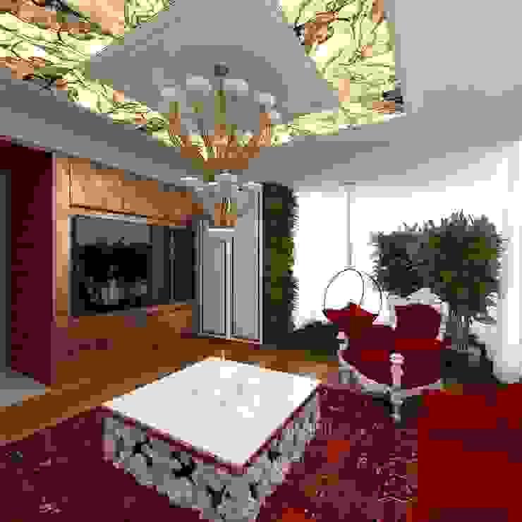 ДИЗАЙН ГОСТИНОЙ Гостиная в стиле модерн от Студия дизайна интерьера Руслана и Марии Грин Модерн