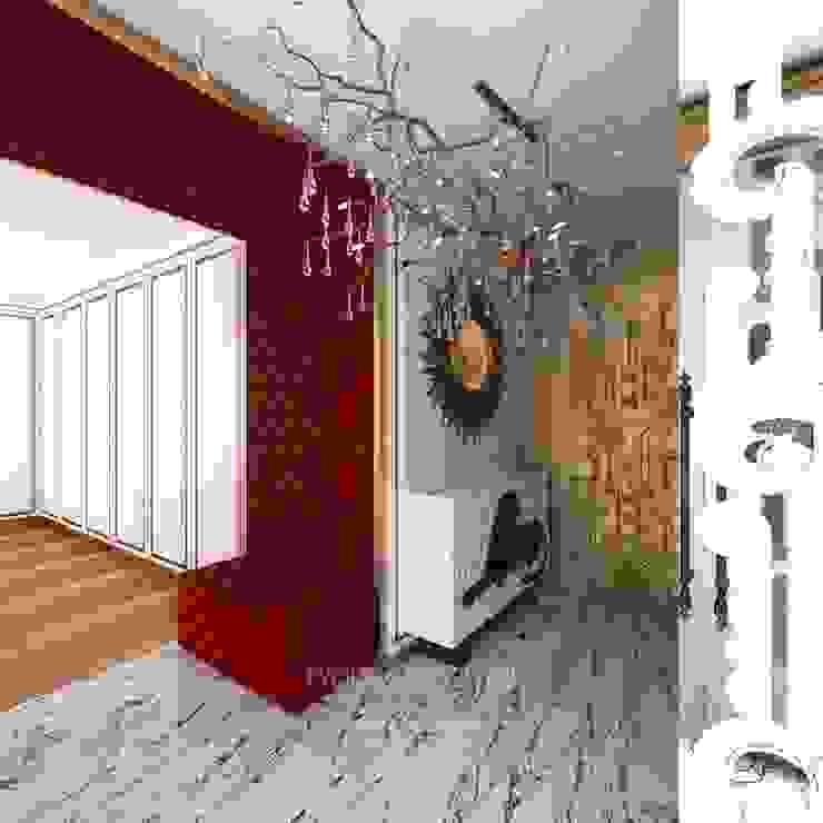 ПРИХОЖАЯ Коридор, прихожая и лестница в модерн стиле от Студия дизайна интерьера Руслана и Марии Грин Модерн