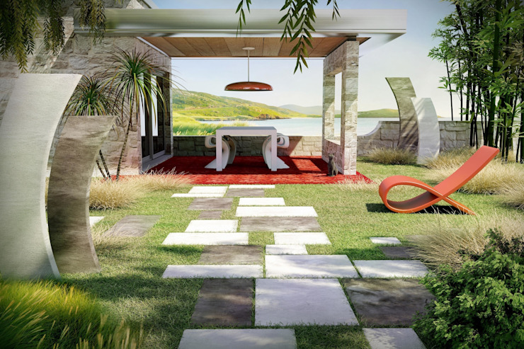 Jardines de estilo  de BRADSTONE, Moderno