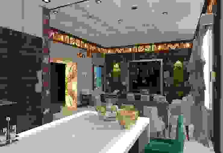 Интерьер столовой зоны в квартире Столовая комната в эклектичном стиле от Студия дизайна интерьера Руслана и Марии Грин Эклектичный