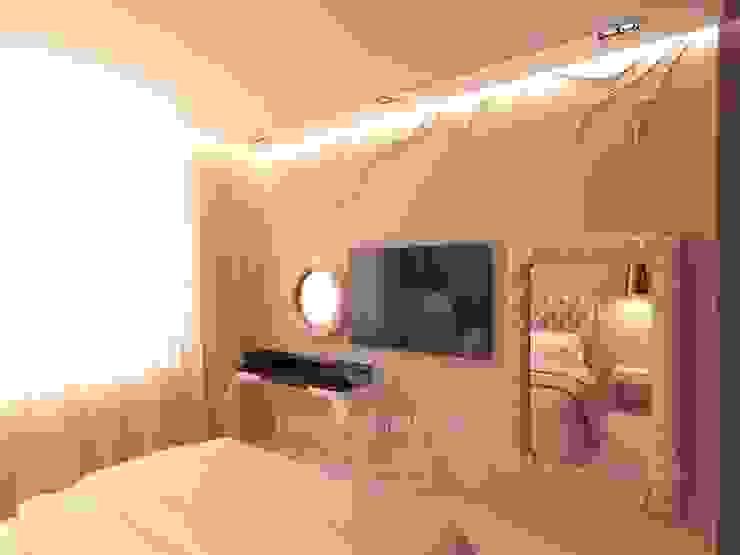 Дизайн интерьера спальни в стиле ар-нуво Студия дизайна интерьера Руслана и Марии Грин Спальня в стиле модерн