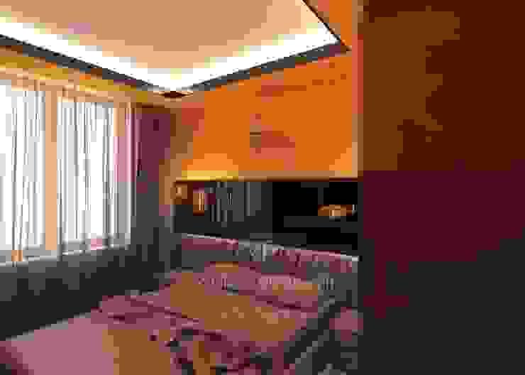 Дизайн интерьера спальни в современном стиле Студия дизайна интерьера Руслана и Марии Грин Спальня в стиле модерн