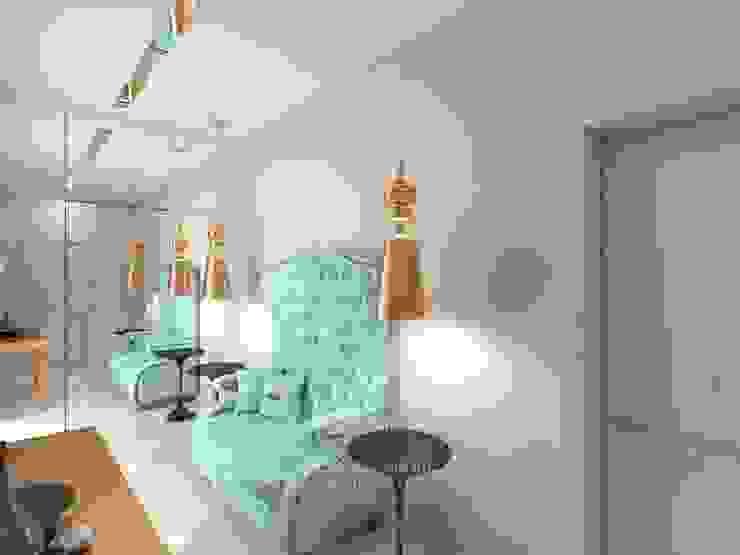 Дизайн холла в квартире Студия дизайна интерьера Руслана и Марии Грин Коридор, прихожая и лестница в модерн стиле