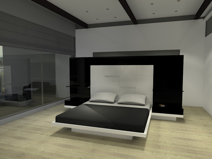 TB1504 Dormitorios modernos de Arq. Jacobo Smeke Moderno