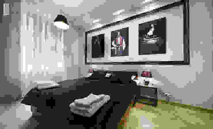 Eclectic style bedroom by Pracownia projektowa artMOKO Eclectic