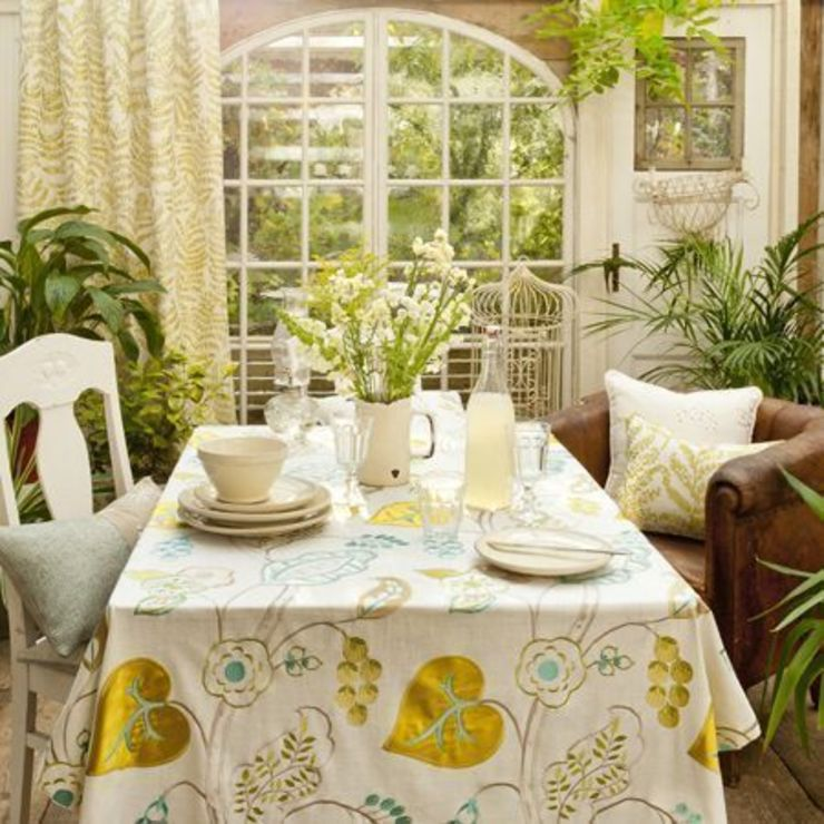 Clarke & Clarke - Wild Garden Fabric Collection Country style dining room by Curtains Made Simple Country