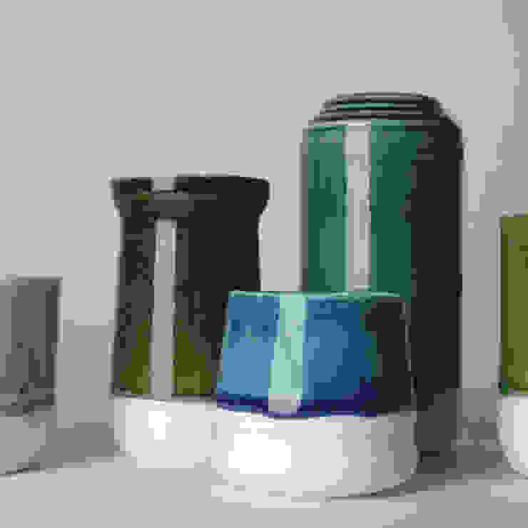 Enkel Glas: modern  door Studio Ineke van der Werff, Modern