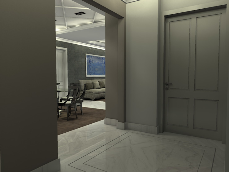P14T2404 Pasillos, vestíbulos y escaleras modernos de Arq. Jacobo Smeke Moderno