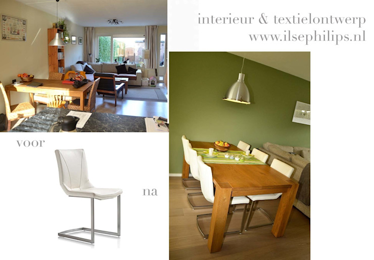 Eet-/Woonkamer 5 Moderne woonkamers van ilsephilips Modern