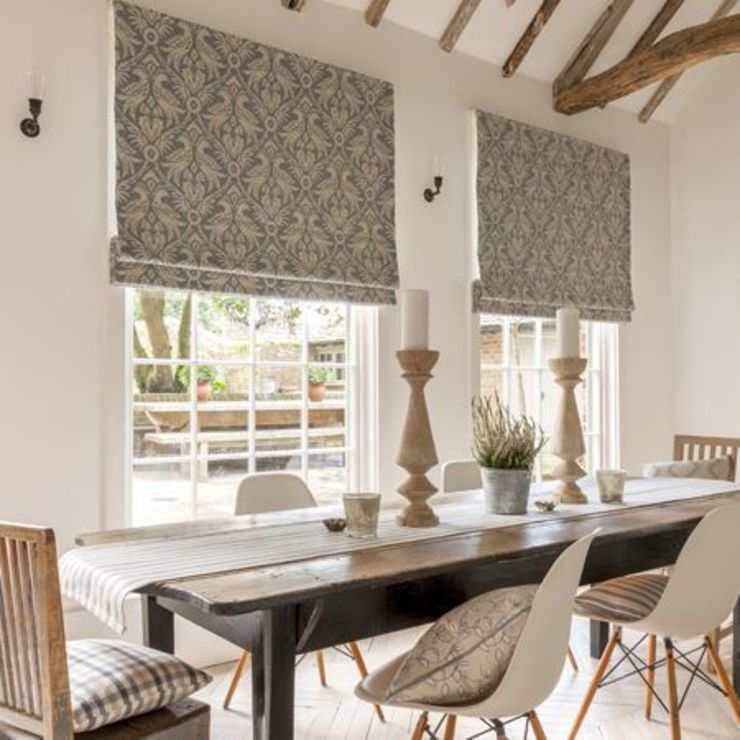 Clarke and Clarke - Manor House Fabric Collection Curtains Made Simple Classic style dining room