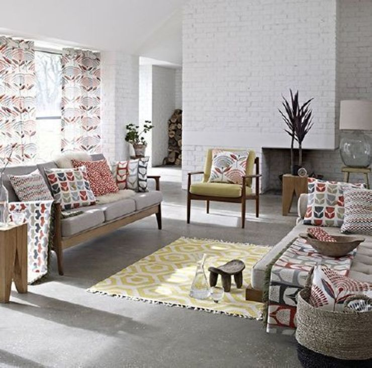 Prestigious Textiles - Accent Fabric Collection Scandinavian style living room by Curtains Made Simple Scandinavian