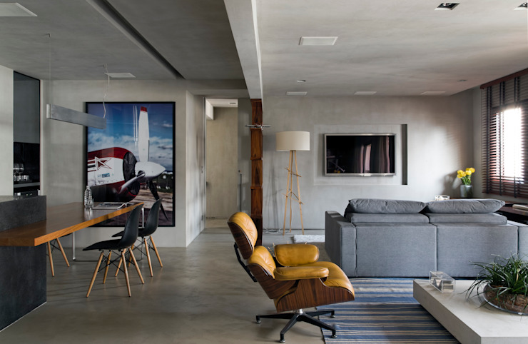Modern living room by DIEGO REVOLLO ARQUITETURA S/S LTDA. Modern