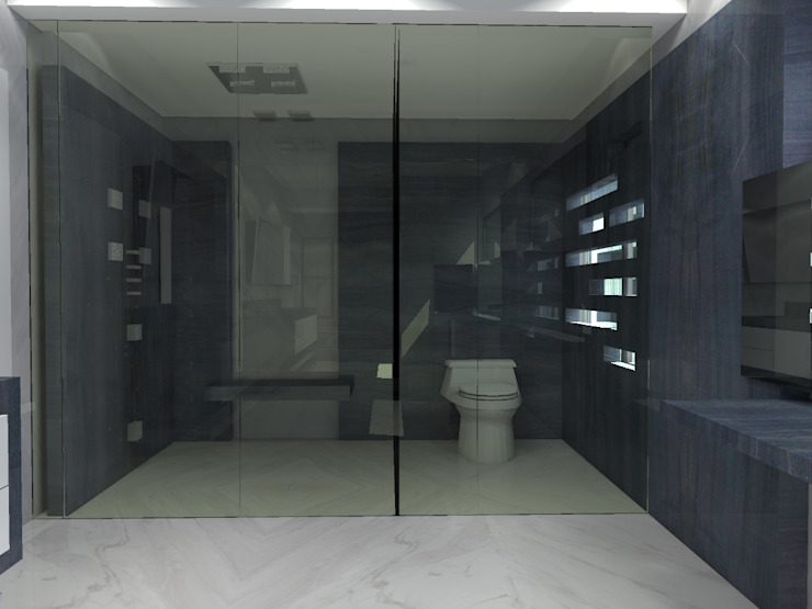 Modern bathroom by Arq. Jacobo Smeke Modern