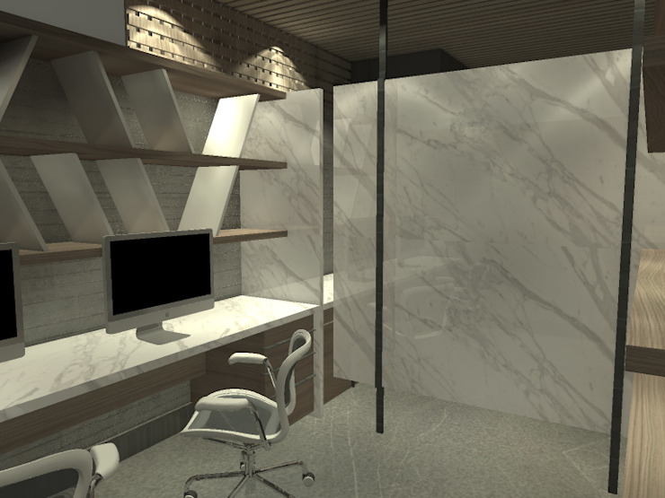 Modern Study Room and Home Office by Arq. Jacobo Smeke Modern
